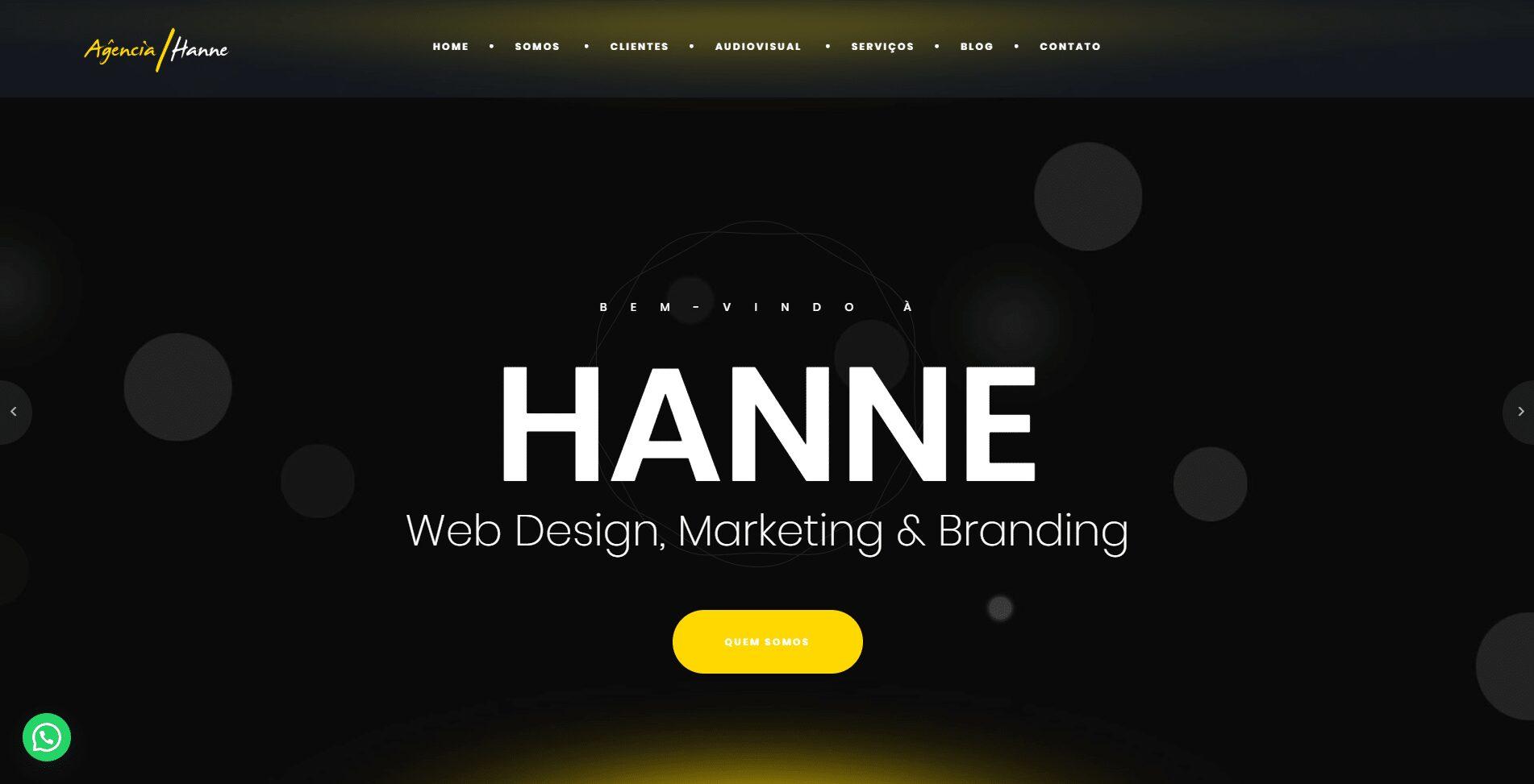 Website Agência Hanne