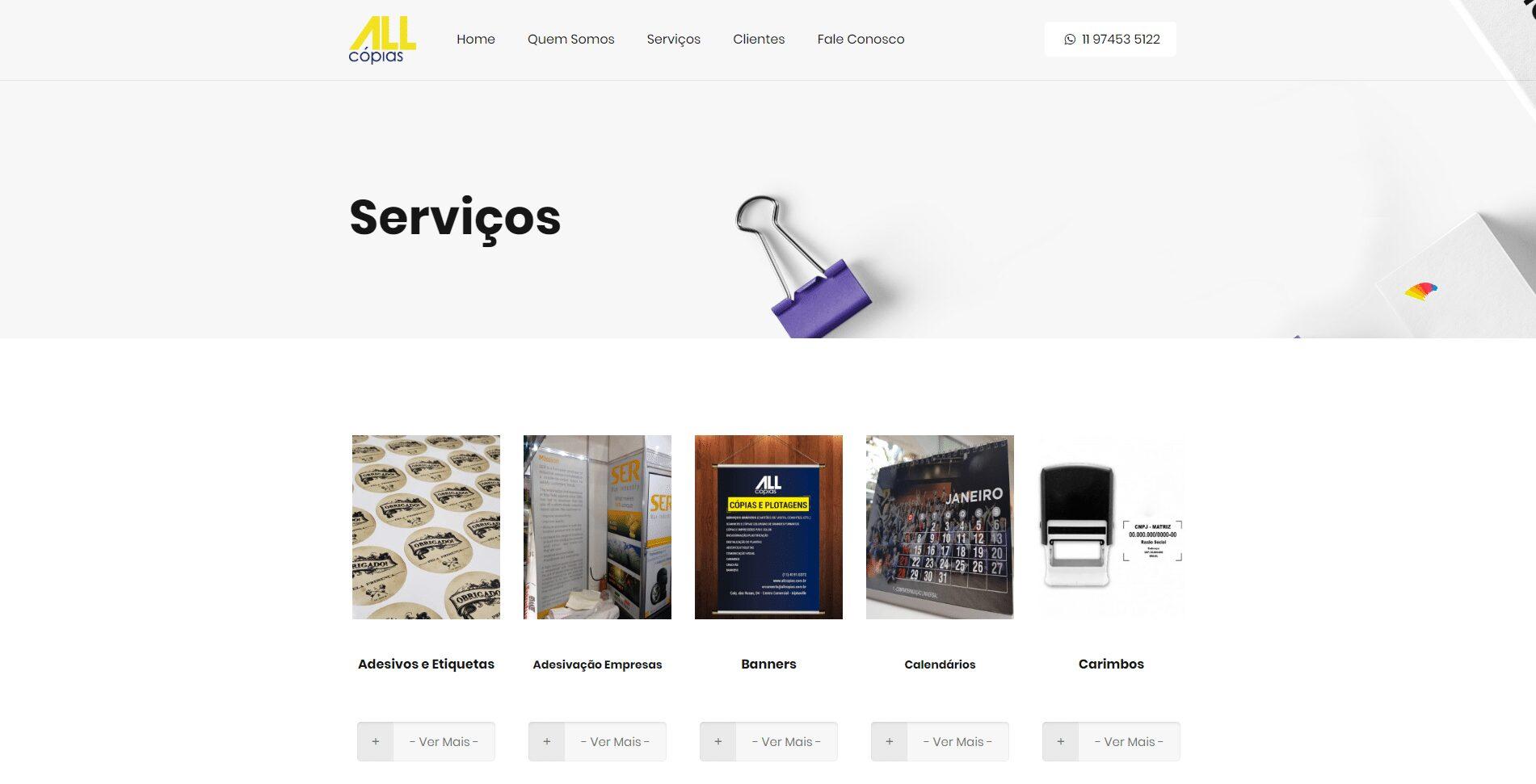Website All Cópias