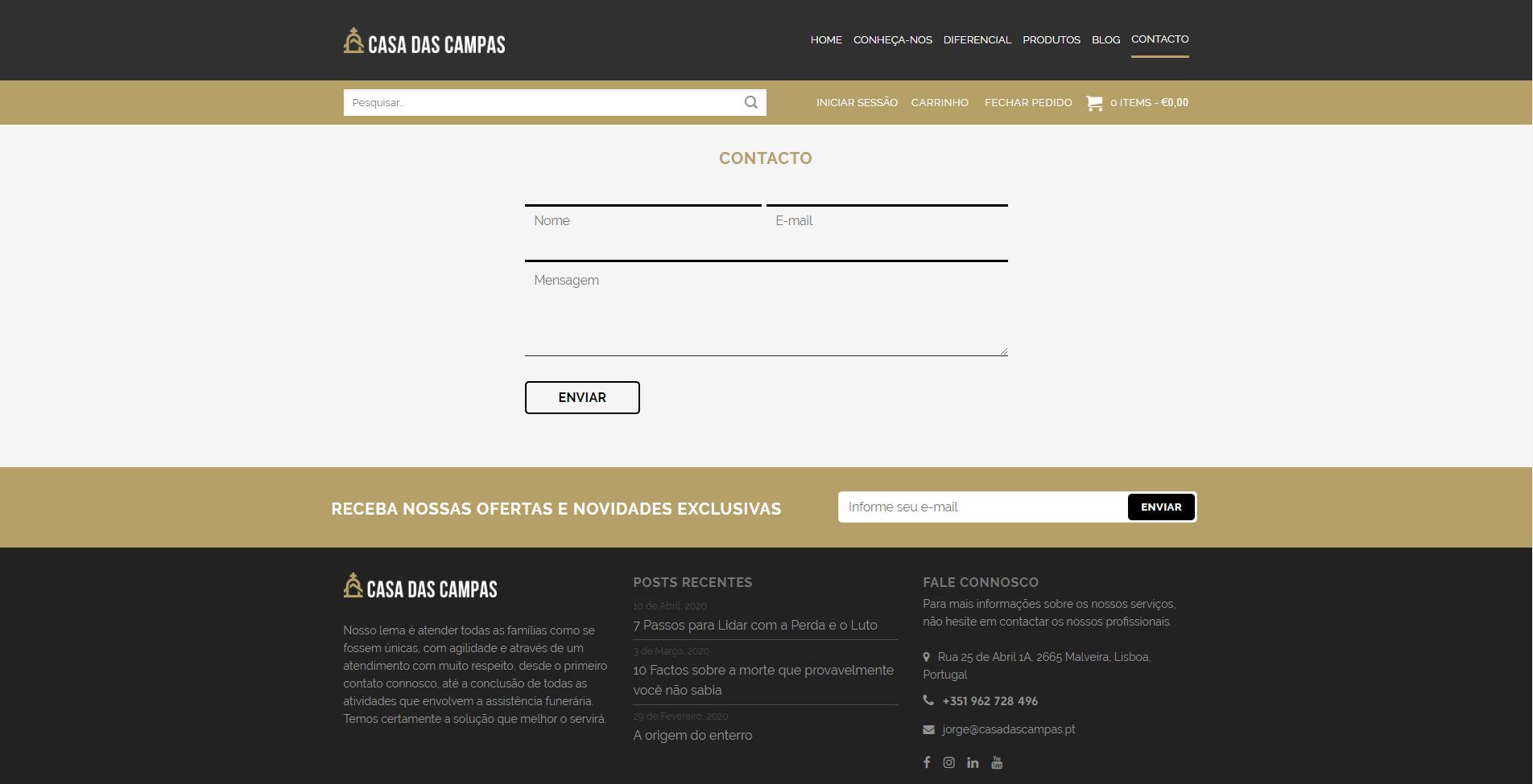 Website Casa das Campas