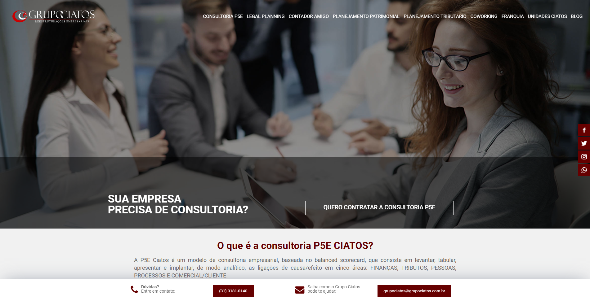Website Grupo Ciatos
