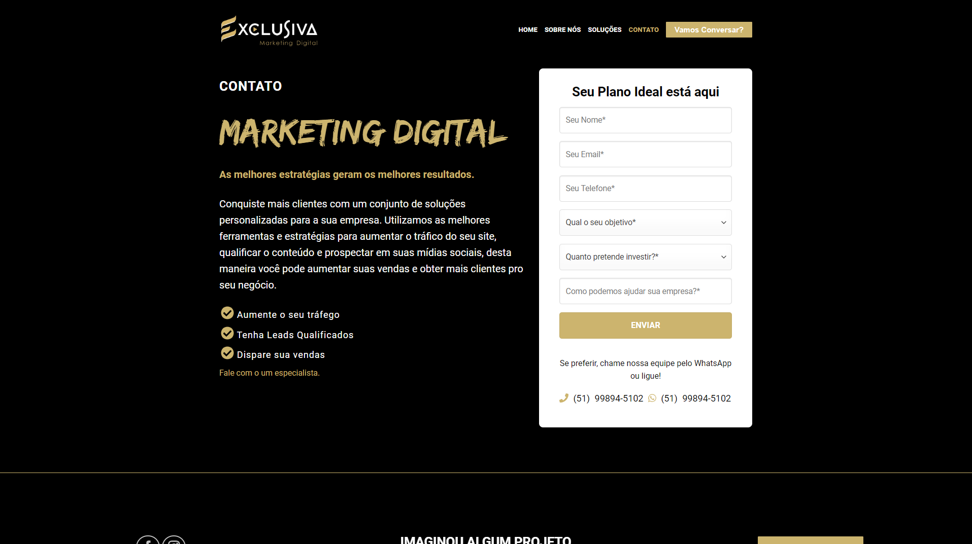 Website Exclusiva Marketing Digital
