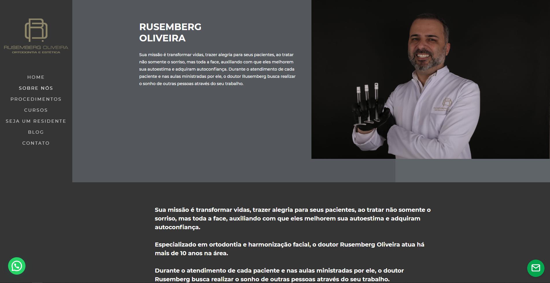 Website Rusemberg Oliveira