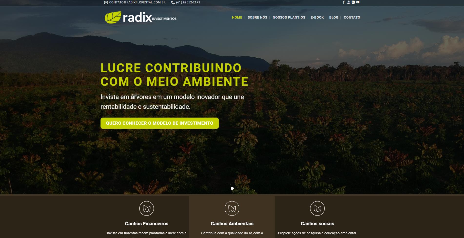 Website Radix Florestal