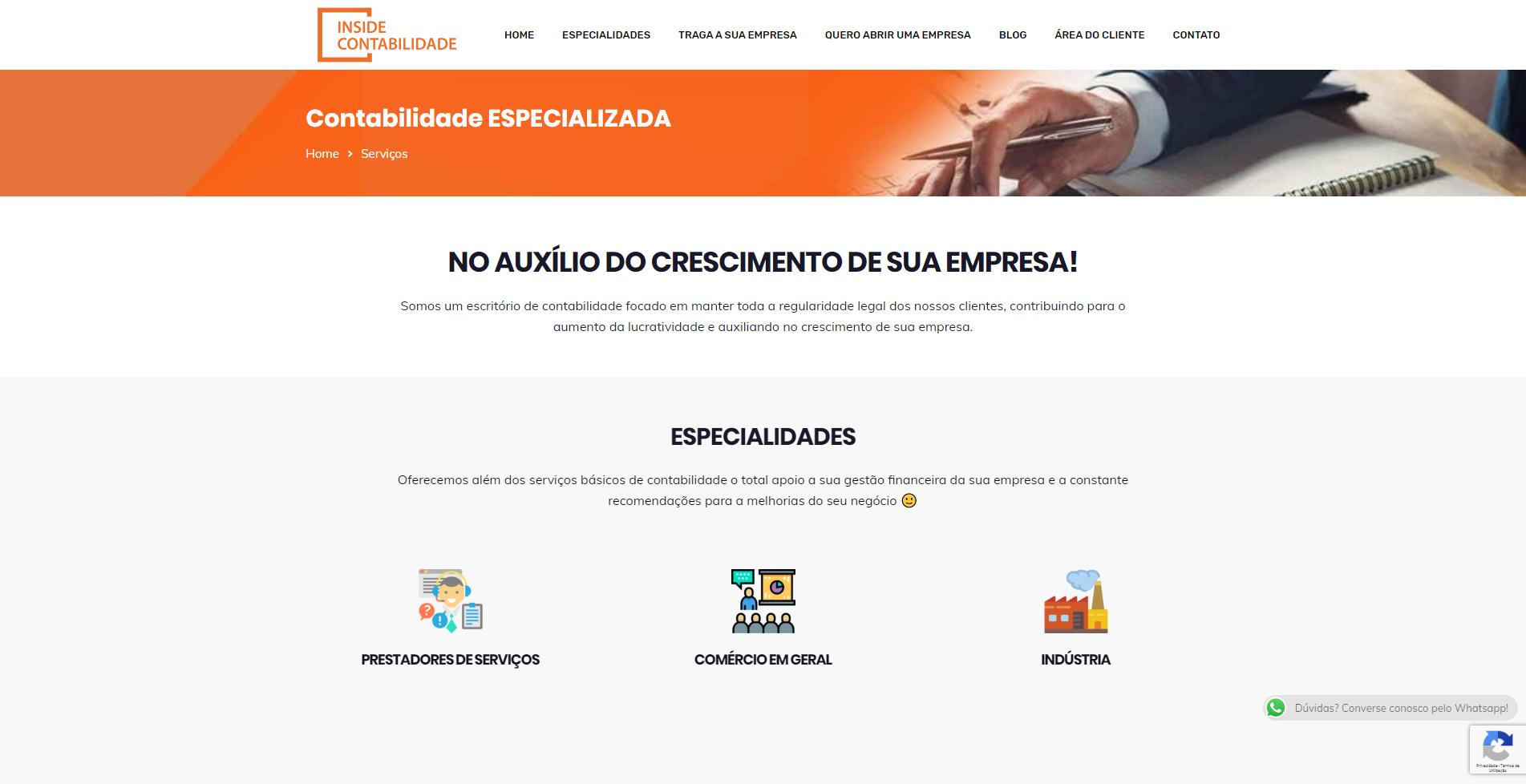 Website Inside Contabilidade